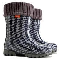 Дитячі гумові чобітки Demar Twister Lux Print HG (Твістер Пепіта сіра) d9906cb3763a8