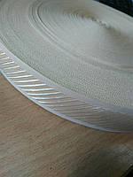 Тесьма 30мм(беж.диагональ на кольцах), фото 1