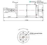 Электро шпиндель 300 Вт 12-48 В для ЧПУ фрезерного станка с воздушным охлаждением, ER11 патрон, фото 4