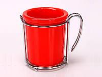 Керамическая Подставка для кухонных принадлежностей Радуга красная