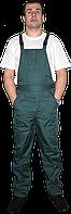Рабочий мужской полукомбинезон, цвет зеленый