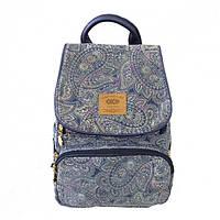 Молодежный рюкзак zibi compact blue paisley zb16.0666bp для подростка