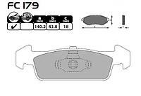 Колодки тормозные передние Logan II 1.2-1.5 DCI FRICO FC 179