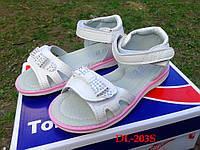 Красивые белые босоножки,сандалии  для девочки