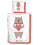 """Панельки из хлопковой ткани """"Мишка с сердцем"""", размер 40*40 см, фото 2"""