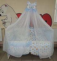 Детское постельное белье Bonna Present Голубые Киты