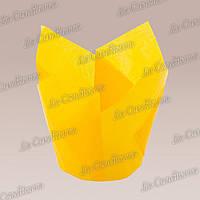 Формочки для кексов Тюльпан насыщенно-желтые (50 шт., d=50 мм, высота бортика=60/80 мм), фото 1
