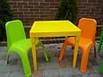 Набор детской пластиковой мебели - стол и 2 стул. (ЖЕЛТЫЙ СТОЛ) Украина, фото 2