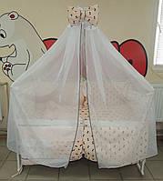 Постельное белья в детскую кроватку Bonna Present Персиковые Бантики