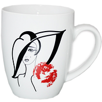 Чашка 380 мл Дама в шляпе SNT 040-01-59