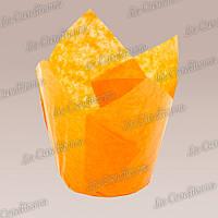 Формочки для кексов Тюльпан оранжевые (50 шт., d=50 мм, высота бортика=60/80 мм)