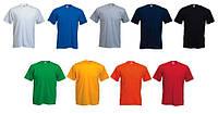 Футболки трикотажные мужские, разные цвета, 100% хлопок