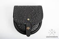 Кожаная женская сумка, сумка через плечо, мини сумочка, черная сумка