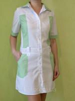 "Медицинский халат женский с коротким рукавом "" Элиза"""