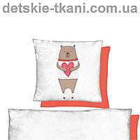 """Панельки из хлопковой ткани """"Мишка с сердцем"""", размер 40*40 см"""