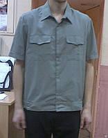 Рубашка офицерская с коротким рукавом/полынь голубая белая/
