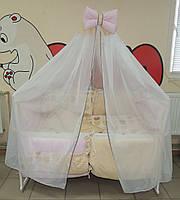 Комплект постельного белья для новорожденного Bonna Present Сердечки розовые