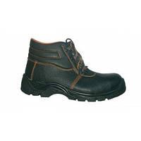 Ботинки рабочие с металлическим подноском МАН, натуральная кожа, ПУ, литьевой метод крепления