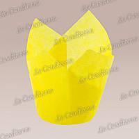 Формочки для кексов Тюльпан светло-желтые (50 шт., d=50 мм, высота бортика=60/80 мм), фото 1