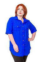 Рубашка женская размер плюс Классика  52-56
