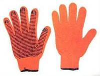 Перчатки оранжевые с ПВХ точкой