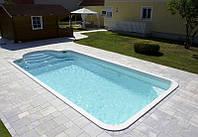 Бассейн GARDA 950 размеры: 9,50 х 3,70 х 1,50 м