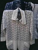 Элегантный вязаный венгерский кардиган-пиджак больших размеров