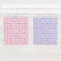 Пеленки тканевые голубые, простые ситцевые в роддом ,  90x100см.