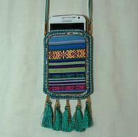 Сумочка для мобильного, чехол для телефона - сумочка на шею с орнаментом 13