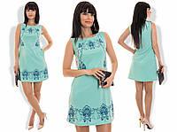 """Стильное молодежное платье мини """" Синие узоры """" Dress Code"""