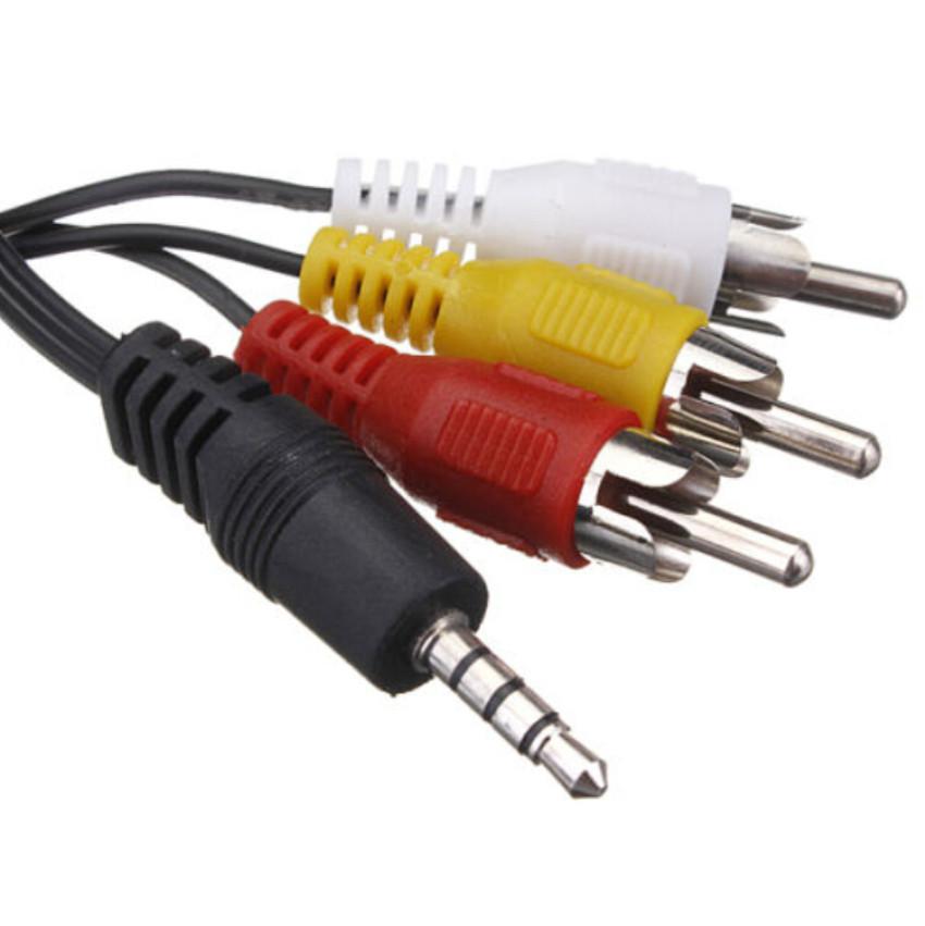 Кабель AV (тюльпан) композитний аудіо-відео кабель 3.5 мм - 3 RCA