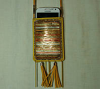 Женский чехол для телефона. Сумочка для мобильного на шею с орнаментом 14