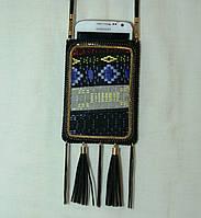 Женский чехол для смартфона. Сумочка для мобильного на шею с орнаментом 15