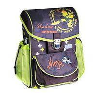 Каркасный школьный ранец zibi satchel ninja zb16.0113nn-k для младших классов