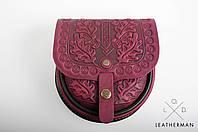 Кожаная женская сумка, сумка через плечо, мини сумочка, фиолетовая сумка