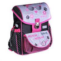 Школьный каркасный ранец zibi satchel meow zb16.0111mw-k для младший классов