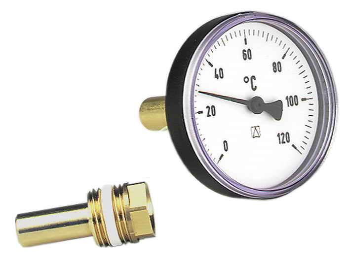 Термометр аксиальный биметаллический в пластиковом корпусе AFRISO ВiTh K от 0 до 120 °C