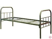 Кровать металлическая полуторка с металлическими спинками