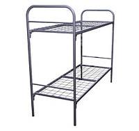 Кровать металлическая двухъярусная с металлическими спинками 190х80