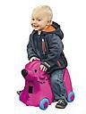 Детский чемодан на колесиках розовый BIG-Bobby-Trolley BIG 0055353, фото 6