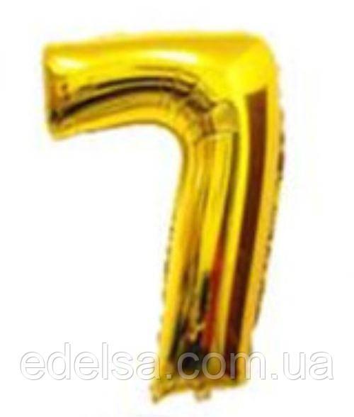 Шар цифра 7 с гелием золотая 60 см