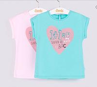 Детская футболка с рисунком сердца