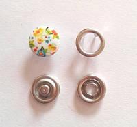 Кнопка трикотажная 9,5 мм закрытая шляпка эмаль с рисунком № 11