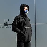 Черный мужской анорак ТУР Shadow, черный, фото 1