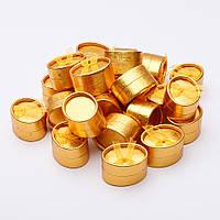 Коробочка для украшений золотистая овал малая  7/4/3,5см 24 шт.
