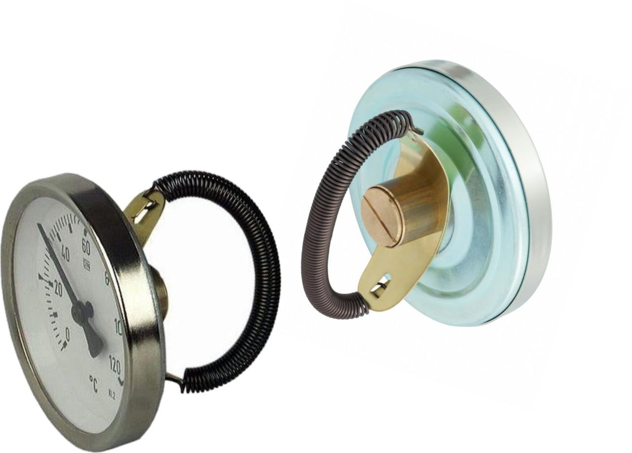 Термометр биметаллический накладной AFRISO ATh F от 0 до 120 °C