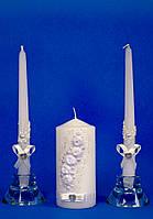 """Набор свадебных свечей """"Семейный очаг"""" спираль"""
