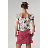 Короткая розовая юбка из хлопка ЛЕТО, фото 2