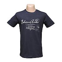 Мужская черная стрейчевая футболка Lycra тм. BY Walker. пр-во Турция 14034-5
