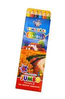 """Карандаши цветные """"Розмалюй-ка Jumbo"""" 6 цветов."""